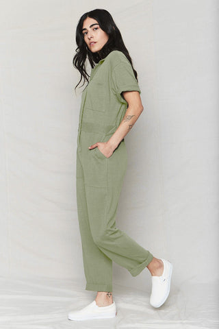 back beat co. Stone Hemp Boiler Suit