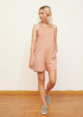 back beat co. Dusty Pink Organic Cotton Everyday Romper