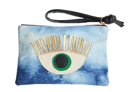 LOVE MERT Conscious Eye Clutch (Green Eye)