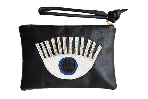 LOVE MERT Conscious Eye Clutch (Blue Eye)