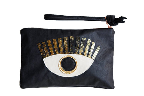 LOVE MERT Conscious Eye Clutch (Gold Eye)
