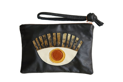 LOVE MERT Conscious Eye Clutch (Mustard Eye)
