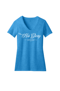 His Glory Servant Ladies V-Neck Tee