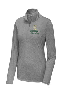 Ladies Tri-Blend Long Sleeve 1/4 Zip Pullover
