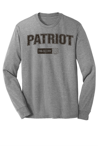 His Glory Patriot Tri-blend Long Sleeve Tee