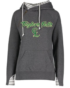 LADIES FASHION DOUBLE-LINED HOODIE