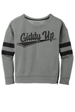 Load image into Gallery viewer, Giddy Up Ladies Boxy Crewneck