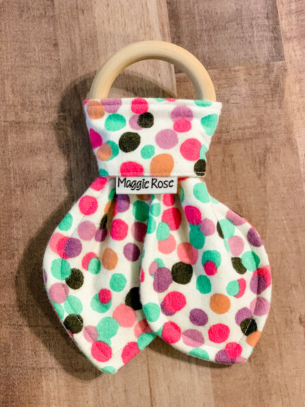Polka dot teether