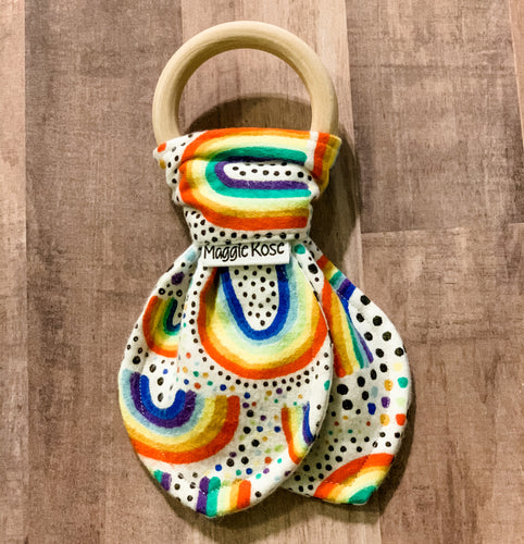 Rainbow baby teether