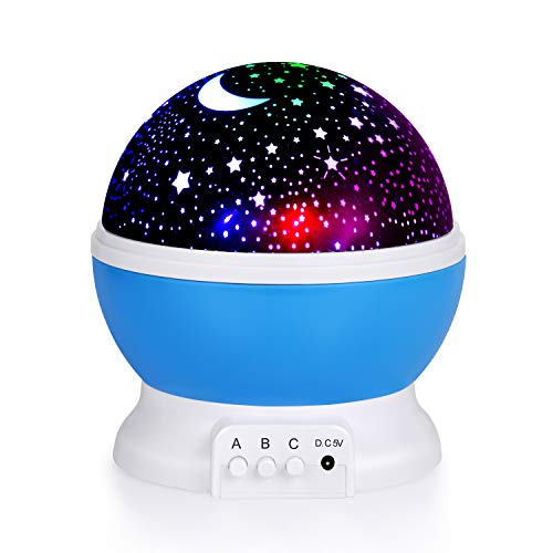 Kids Star Night Light, 360-Degree Rotating Star Projector