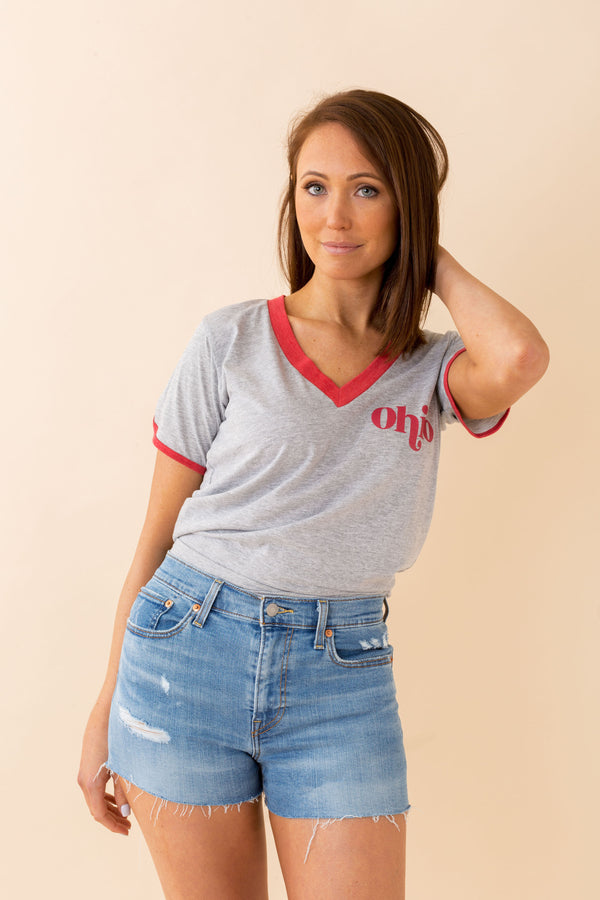 Ohio Retro Tee, Grey