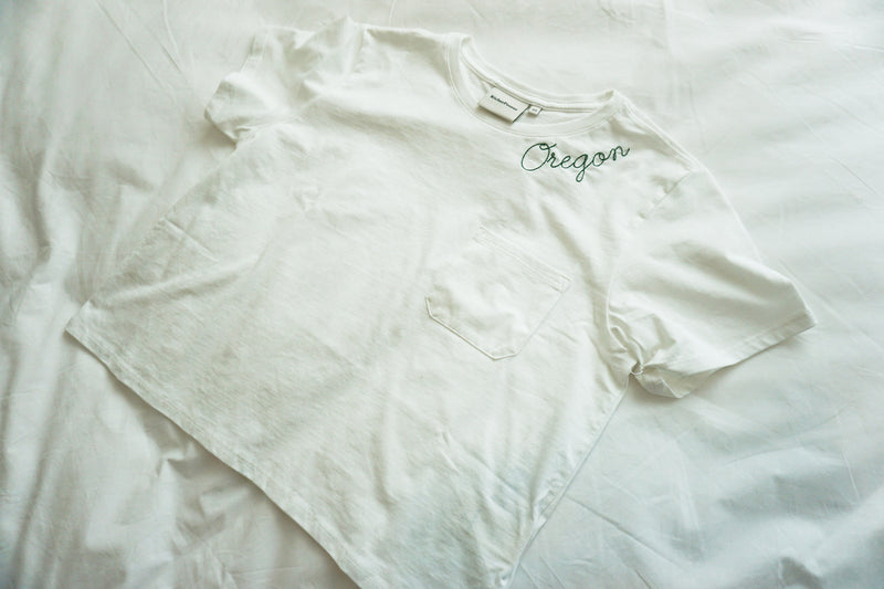 Customize Your Own Script Crop Pocket Tee