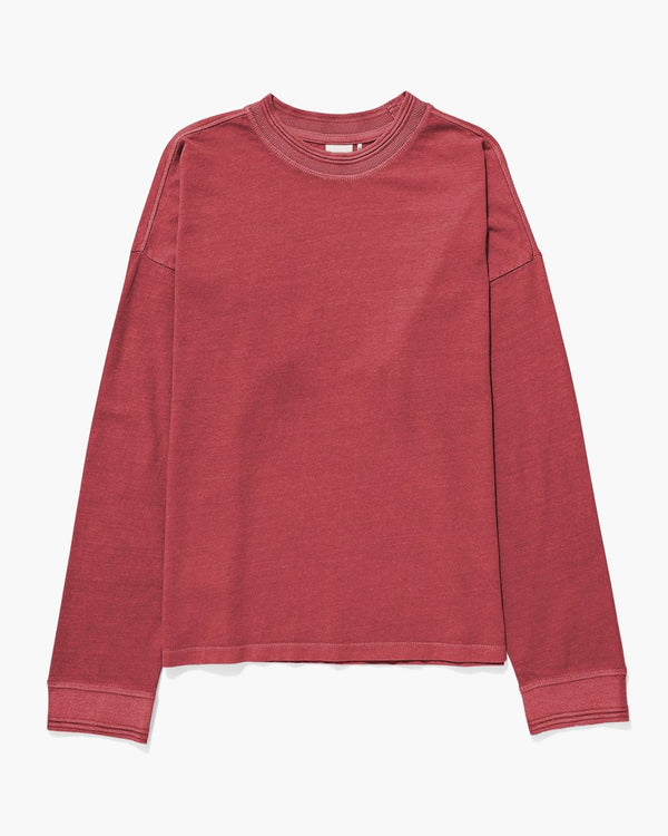 Customize Your Own Long Sleeve Script Tee, Washed Red