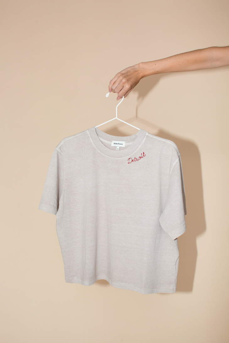 Customize Your Own Vintage Script Tee in Stone