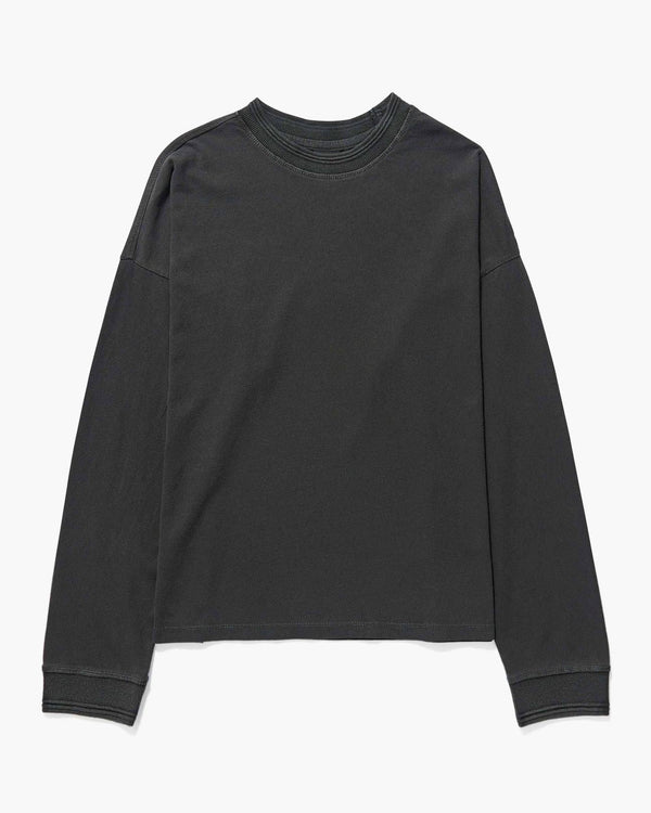 Customize Your Own Long Sleeve Script Tee, Washed Black