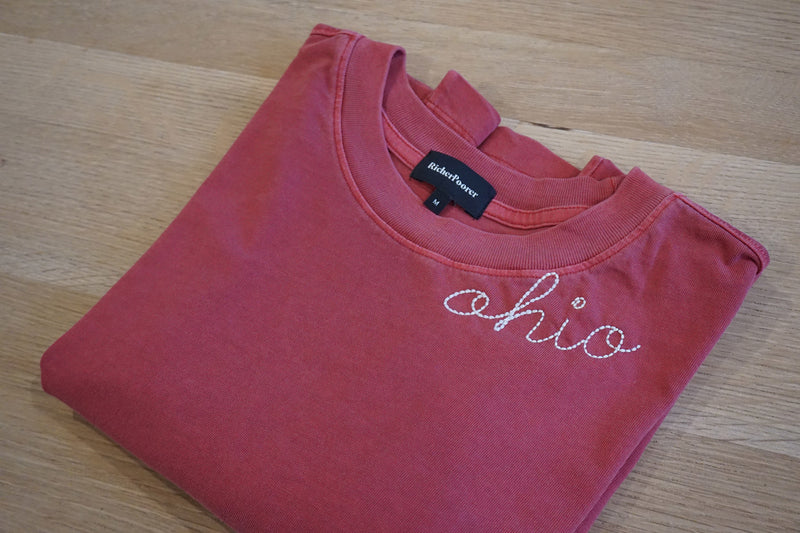 Customize Your Own Vintage Script Tee in Red