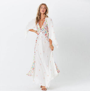 Kimono floral bobo dress-CatCow Co