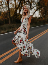 Load image into Gallery viewer, Marie backless bohemian maxi dress-CatCow Co
