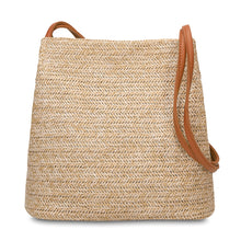 Load image into Gallery viewer, Samira Tassel Bucket Tote-Straw weave-CatCow Co