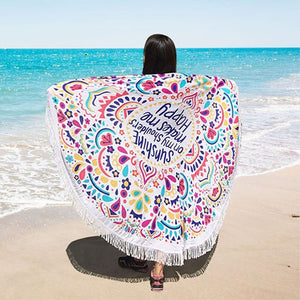 Mandala Beach Tapestry
