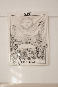 The Sun Tarot Card Tapestry-CatCow Co