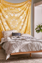 Load image into Gallery viewer, Mustard Mandala Tapestry/ Beach Towel-CatCow Co