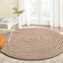 "Load image into Gallery viewer, ""Audrina"" Round Rattan Rug-CatCow Co"