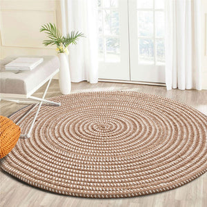 """Audrina"" Round Rattan Rug-CatCow Co"