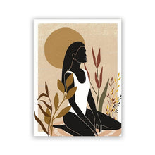 Load image into Gallery viewer, Afro Woman in the garden wall art Poster-wall art-CatCow Co