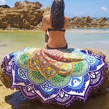 Load image into Gallery viewer, Mandala Beach Towel (various colors available)-CatCow Co