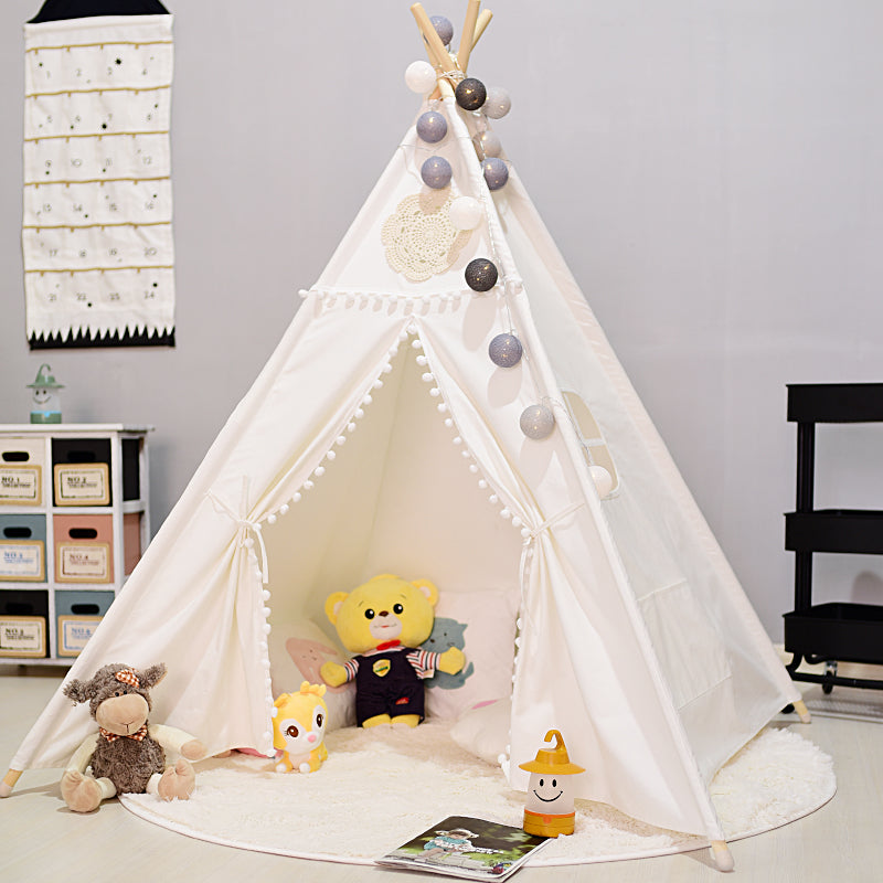 Vintage White Crochet Kid Teepee Tent-CatCow Co
