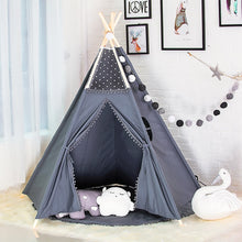 Load image into Gallery viewer, Warm grey Handmade Teepee Tent for Kids-Home & Garden-CatCow Co