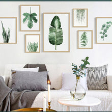 Load image into Gallery viewer, Green Plant Leaves Canvas (various styles)-CatCow Co