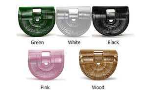 St Tropez Bamboo Clutch-CatCow Co