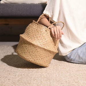 Handmade Natural color Jute seagrass basket