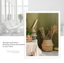 Load image into Gallery viewer, Handmade Natural color Jute seagrass basket