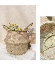 Load image into Gallery viewer, Handmade Natural color Jute seagrass basket-CatCow Co