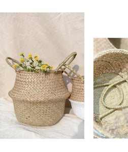 Handmade Natural color Jute seagrass basket-CatCow Co