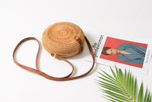 Load image into Gallery viewer, Bali Round Rattan Handbag