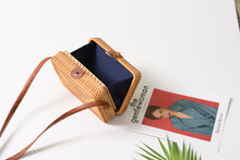 Load image into Gallery viewer, Bali Rectangle Rattan Handbag-CatCow Co