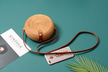 Load image into Gallery viewer, Bali Round Rattan Handbag-CatCow Co