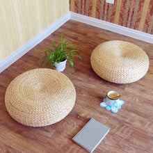 Load image into Gallery viewer, Handmade Nashi Rattan Floor cushion Pillow