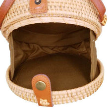Load image into Gallery viewer, Round Atta Rattan Bag-CatCow Co