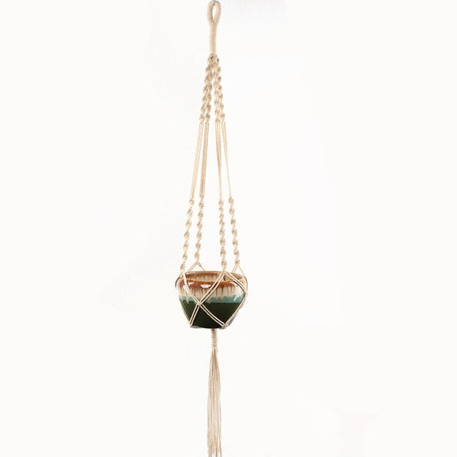Apatite Macrame Pot Hanger-CatCow Co