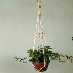 Beaded Macrame Pot Hanger-CatCow Co