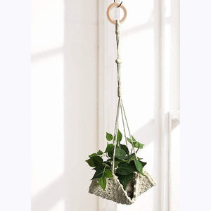 Flint Macrame Pot Hanger-CatCow Co