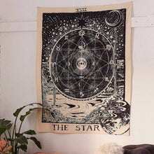 Load image into Gallery viewer, The Star Tarot card Tapestry-CatCow Co
