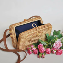 Load image into Gallery viewer, Brown Envelope Handwoven Rattan Bag Bali-CatCow Co