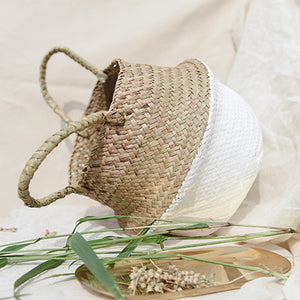 Sea Wicker Basket WHITE (multiple sizes)-CatCow Co
