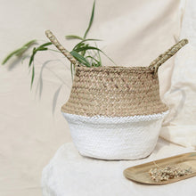 Load image into Gallery viewer, Sea Wicker Basket WHITE (multiple sizes)-CatCow Co
